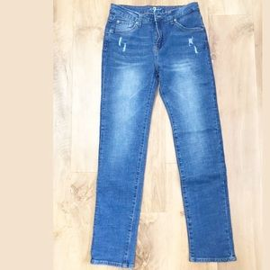 7 For All Mankind Girls Distressed Slimmy Jeans
